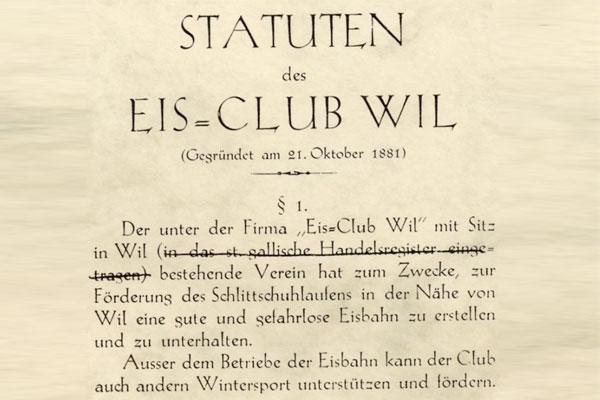 Gründung des EC Wil
