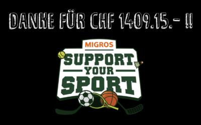DANKE für CHF 1409.15.-